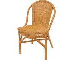 Rattan-Stuhl mit Polster K/üchenstuhl Esszimmer-Stuhl Korbstuhl aus Natur Rattan Vintage Braun Mit Lehne
