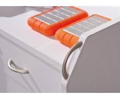 Links 13300100 Rollcontainer Bürocontainer Büromöbel Büro Rollwagen Buche 4 Schubladen weiß NEU