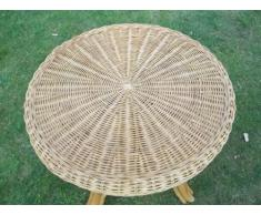 Tisch Rattantisch, Beistelltisch, 62cm