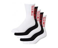 Globe 5Er Pack Socken Bar - Crew Assorted (3944.5 Eu / 711 Us , Schwarz)