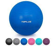 TOPLUS Gymnastikball Sitzball Extra Dicker Yoga-Ball-Stuhl, Anti-Berst-Stabilitätsball für hohe Beanspruchung, Balance Ball mit Schnellpumpe-Blau&65cm
