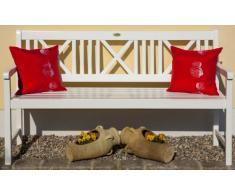 Garden Pleasure Landhausbank LÜBECK weiß lackiert, 2-Sitzer und 3-Sitzer, in FSC Eukalyptus und Akazie (Eukalyptus, 3-Sitzer)