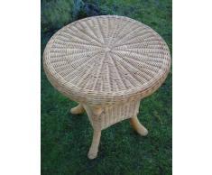 Tisch Rattantisch, Beistelltisch aus Peddigrohr, 70cm