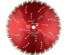PREMIUM Diamant-Trennscheibe 400 mm x 25,4 mm für Granit-Borde Stahl-Beton Naturstein passend für Trennschleifer Schneidetisch Fugenschneider 400mm