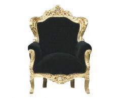 Casa Padrino Barock Sessel King Schwarz/Gold