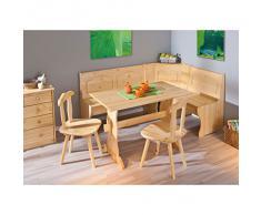 Links 30500140 Eckbank Eckbankgruppe Bank Esstisch 2 Stühle Kiefer massiv Landhaus Küche NEU