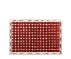 Marokkanischer Mosaiktisch 80x120 cm COUCHTISCH Gartentisch Fliesentisch mediterraner Mosaik - Tisch (Susat: rot/weiss)