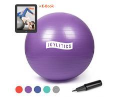 Joyletics® Gymnastikball »M« | Sitzball und Fitnessball für EIN entlastendes Sitzen und vielfältiges Ganzkörpertraining | Gymnastik-Ball Durchmesser 75 cm, lila
