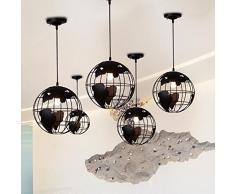 MITOYO Retro Globe Kronleuchter, Für Restaurant Bar Cafe Internet Cafe Büro Eisen Kreative Kronleuchter Schwarz Verwendet