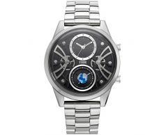 STORM London Globe-X Black, Herrenuhr, Dual-Time Funktion, 5 bar Wasserdicht, Edelstahlgehäuse, Mineralglas, 47441/BK