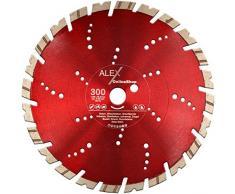 PREMIUM Diamant-Trennscheibe 300 mm x 25,4 mm für Granit-Borde Stahl-Beton Naturstein passend für Trennschleifer Schneidetische Fugenschneider 300mm