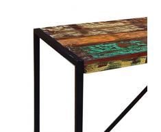 Pharao24 Esstisch im Shabby Chic Design aus altem Holz Breite 165 cm