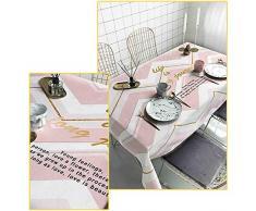 Gedruckt Rechteckige Tischdecke,verdickte Wasserdicht Eisen-Nachweis Square Tisch Decken Esstisch Tee Tisch Picknick Tisch Protector-h 90x90cm(35x35inch)