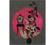 1art1 50356 Anna Buschulte - Barock-Stuhl, Ranken, Asien-Design Poster Kunstdruck 50 x 40 cm