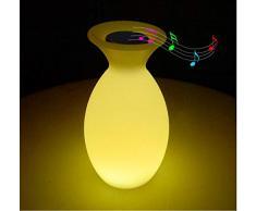 Yhhzw Wiederaufladbarer Bluetooth-Lautsprecher Led Nachtlicht Rgb Fernbedienung Tischbar Home Music Restaurant Ktv Innendekor Lampenleuchten Größe 16 × 30 Cm