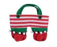 Demiawaking Süß Weihnachten Santa Süßigkeiten Taschen Bonbontüte fuer Partytisch Dekor