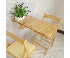 Qing MEI Massivholz Kindertisch Wandtisch, Küchentisch Laubtisch A++ (Farbe : B)