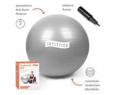 Joyletics® Gymnastikball »S« | Sitzball und Fitnessball für EIN entlastendes Sitzen und vielfältiges Ganzkörpertraining | Gymnastik-Ball Durchmesser 65 cm, Silber-grau