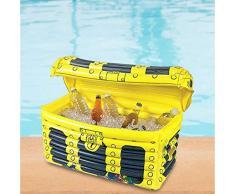 Waofe Aufblasbarer Pool-Schwimmerbier des Sommerfest-Fasswolkenbecherhalters trinkt kühles Tischbar-Tablett-Strandschwimmring