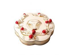 Tao Obstteller 7 Gitter Dörrobst Teetisch Keramik Keksdose Haushalt Imbiss-Platte Melone Box