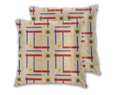 A Nod To Bauhaus Circle Wurfkissenbezug, dekorativ, weich, quadratisch, für Couch / Sofa / Bett / Stuhl, 45,7 x 45,7 cm, 2er-Set