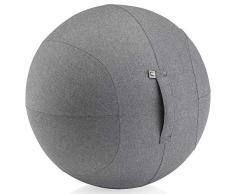 Kettler Büro-Sitzball Office Ball mit Stoffbezug in Graphit - Gesundes Sitzen zu Hause und im Büro, 65cm Bürositzball inkl. Pumpe, Stoff-Sitzball platzsicher, Größenempfehlung: 1,55 m bis 1,75 m