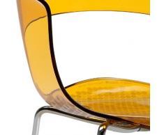 Scab Design Designer Stuhl mit Chrombeinen Miss B Antishock 4 Legs orange transparent