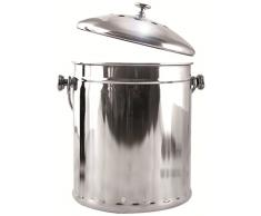Eddingtons Mini Tisch Tee Komposteimer/Abfalleimer, Edelstahl, 2,25 L
