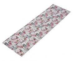 Shabby Chic Tischläufer in natur rosa 40x140 cm 100% Baumwolle französischer Landhaus mit Rosen passende Varianten als Tisch Set und Kissen Typ293