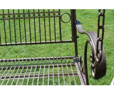 DanDiBo Hängebank Metall Garten 82505 Schaukel mit Ketten Gartenschaukel Baumschaukel Bank Hollywoodschaukel Schaukelbank