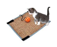 Haiyemao Cat Scratch Pad Kitten Pet Scratch Mat Ball Post Claw Training Sisal Pad Pet Furniture Cover Table Chair Sofa Legs Scratching Prevention Mat for Cat Playing