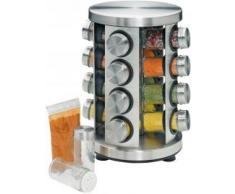 Küchenprofi Gewürzständer, rund, Edelstahl und Glas für Sommer 2014