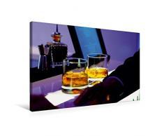Premium Textil-Leinwand 75 cm x 50 cm quer, Cool Atmosphere - Whisky Gläser auf Bartheke | Wandbild, Bild auf Keilrahmen, Fertigbild auf echter Leinwand, Leinwanddruck (CALVENDO Lifestyle)