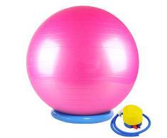 CHANG JIAER Gymnastikball mit Stabilität Basis/Pump 65cm Eignung-Kugel Flexible Sitz verbessert die Balance Kernkraft Posture Ball Chair Secure Anti-Burst-rutschfest-Kugel,Rosa