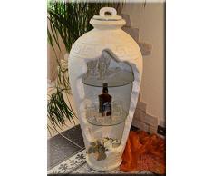 Griechische Vitrine Bar Vase Amphore Rundregal Regal Eckvitrine Mäander