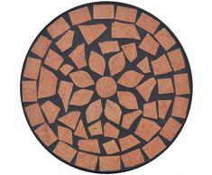 Anself Mosaik Beistelltisch Blumenständer Teetisch Ø 30 x H 60 cm
