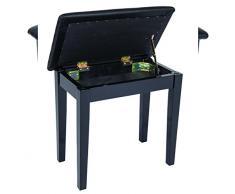 Kinsman KPB01BK Pianobank mit Notenfach schwarz