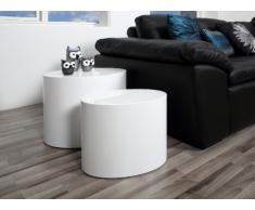 AC Design Furniture 46188 2-Satz Tisch Rico 2-er Set, weiß hochglanz