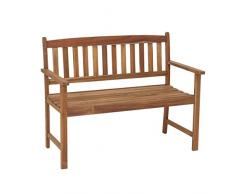greemotion Bank Borkum akazie, 2-Sitzer aus FSC® zertifiziertem Akazienholz, robuste Gartenbank im Landhaus-Stil, witterungsbeständig und langlebig