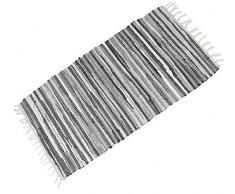 Famibay Bereich Teppich rutschfest Handarbeit Teppiche für Wohnzimmer Chindi Recycelt Baumwolle Teppich Mehrfarbig Flickenteppich 60x120cm/24x47in (ca.)