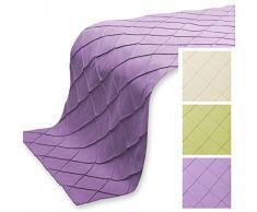 Bettläufer ca. 70x280 cm Sofaläufer Alcantara Optik Raute Muster Farbwahl #314 (flieder)