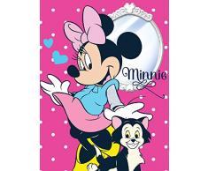 Javoli Disney Minnie Maus Fleece Decke Kuscheldecke Tagesdecke 150x200cm (Pink)