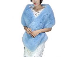 Damen Schal SHOBDW Frauen Elegant Solid Künstliche Pelz Umhang Frauen Winter Warme Büro Praktisch Webpelz Decke