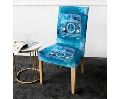 VYEKL Mini Van Stuhlbezug Mandala Hippie Auto Spandex Schonbezug Peace Design Restaurant Sitzbezug Stretchbezug 4 STK