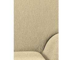 Textil-home Stretchhusse für Relaxsessel Komplett Marian, Elastisch Bezug für Fernsehsessel Liege - 1 Sitzer - 70 a 100Cm. Farbe Beige
