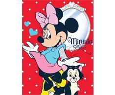 Javoli Disney Minnie Maus Fleece Decke Kuscheldecke Tagesdecke 150x200cm (Rot)