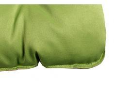 Meerweh 2er Set Sitzkissen und Rückenkissen, Polsterauflage, grün, 50 x 98 x 8 cm, 74073