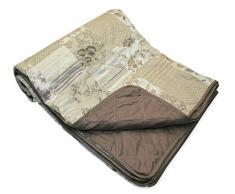 Tagesdecke Patchwork ca. 220x240 cm Sofaüberwurf Couchschoner Überwurf Decke Kuscheldecke erdtöne