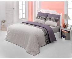 Bettwäsche 200x200 Baumwolle Bettgarnitur mit Reißverschluss 3 teilig L-7699