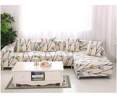 GLITZFAS 1/2/3/4 Sitzer Elastisch Sofa Überwürfe Sofabezug Sofahusse Sofa Abdeckung Stretch weich elastisch (H,3-Sitzer:185-230cm)